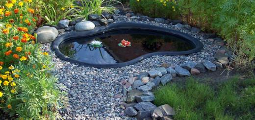 Оформление пластикового пруда на даче своими руками фото